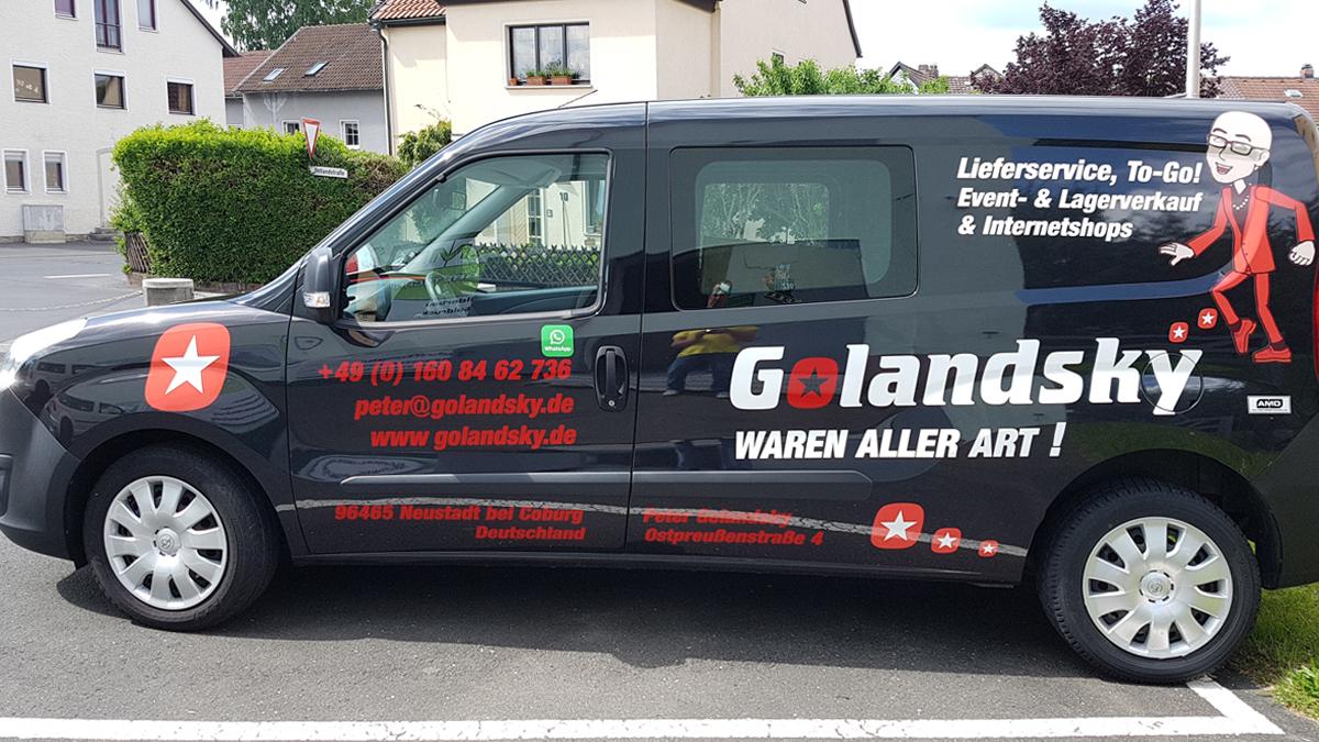 Golandsky-Fahrzeugbeschriftung