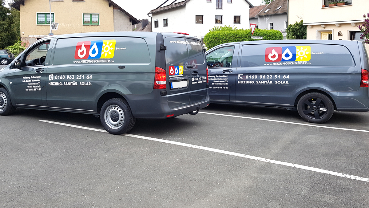 Heizungschneider-Fahrzeugbeschriftung-Flotte